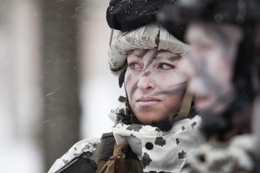 2013: 648 naista hakeutui asepalvelukseen. Kuva: Puolustusvoimat.